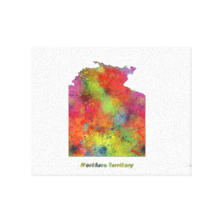 NORTHERN TERRITORY STATE MAP - Stretched Canvas