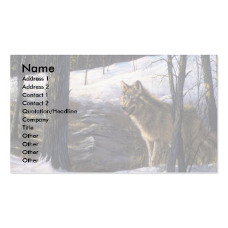 Northern Timber Wolf Business Card