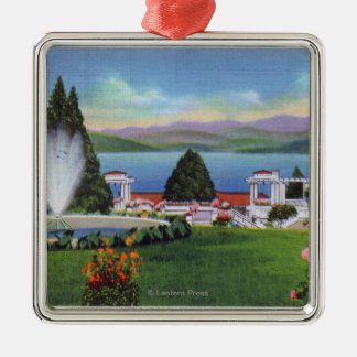 Northern View of Lake from Ft. William Henry Metal Ornament