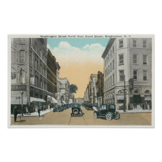 Northern View of Washington Street from Court Poster