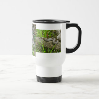 Northern Water Snake Basking on Log Multiple Items Travel Mug
