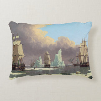 """Northern Whale Fishery: """"Swan"""" & """"Isabella"""" Accent Pillow"""