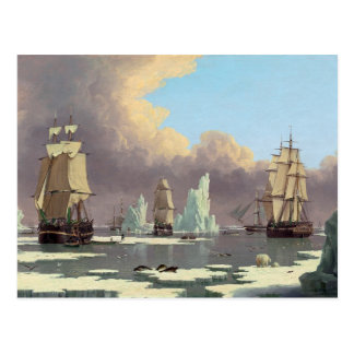 """Northern Whale Fishery: """"Swan"""" & """"Isabella"""" Postcard"""
