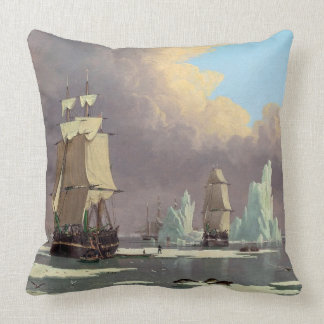 """Northern Whale Fishery: """"Swan"""" & """"Isabella"""" Throw Pillow"""