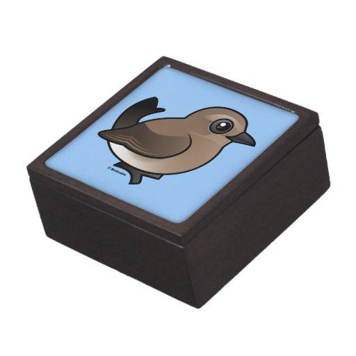 Northern Wheatear (juvenile) Premium Trinket Box