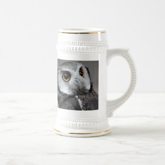 Northern White-faced Owl Beer Stein