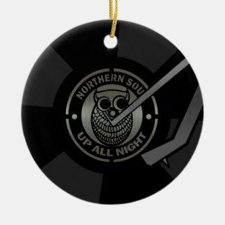 NorthernSoul vinyl on turntable Ceramic Ornament