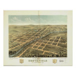 Northfield Minnesota 1869 Antique Panoramic Map Posters