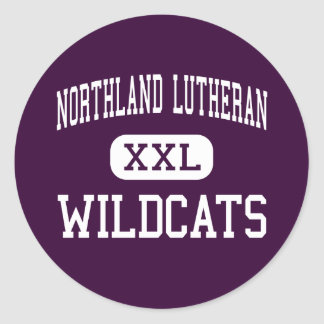 Northland Lutheran - Wildcats - High - Mosinee Classic Round Sticker