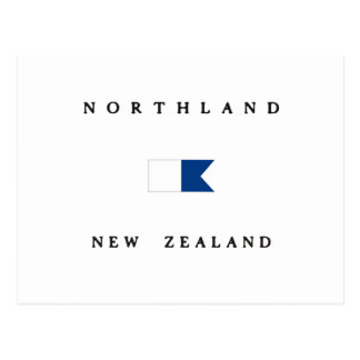 Northland New Zealand Alpha Dive Flag Postcard