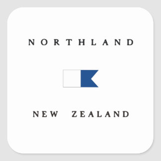 Northland New Zealand Alpha Dive Flag Square Sticker