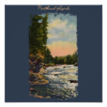 Northland Rapids Painted Poster