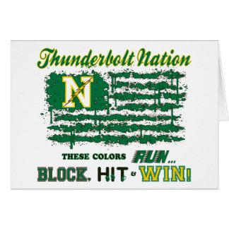 Northmont Thunderbolt Nation Flag Card