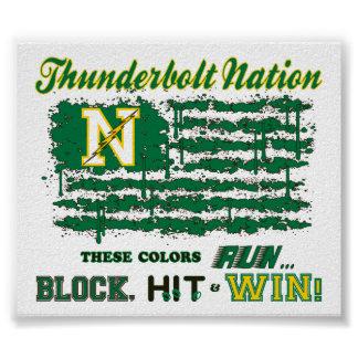 Northmont Thunderbolt Nation Flag Print