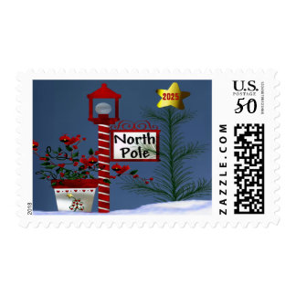 Northpole Christmas (Date) Postage Stamp