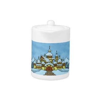 northpole holiday teapot