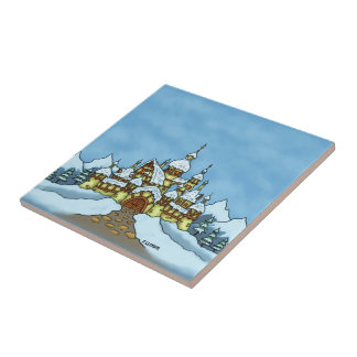 northpole holiday winter ceramic tile