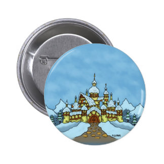 northpole holiday winter pinback button