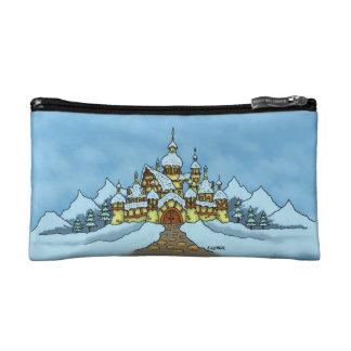 northpole holiday wristlet bag