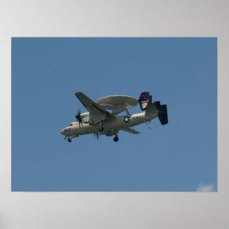 Northrop Grumman E-2C Hawkeye. Poster
