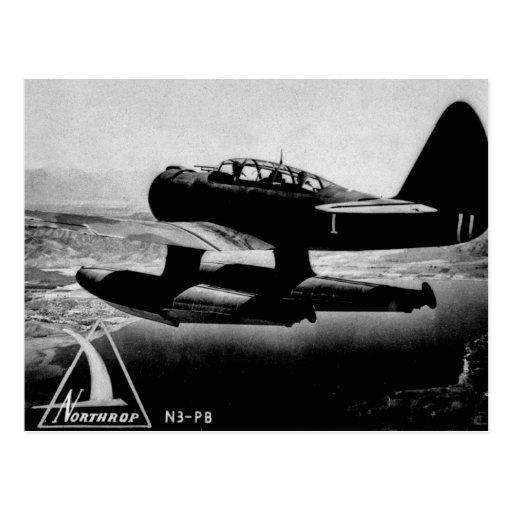 Northrop N3-PB Patrol Bomber - Vintage Postcard