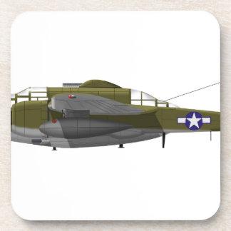 Northrop P-61 Black Widow Beverage Coaster
