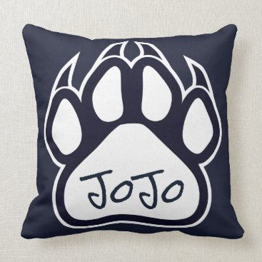 Aztec Themed Northshore High School Panthers Pillow Navy White