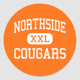 Northside - Cougars - High - Memphis Tennessee Round Sticker