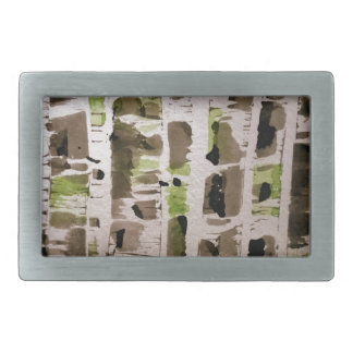 Northside of Birch Trees Belt Buckle