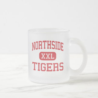 Northside - tigres - centro - Tuscumbia Alabama Taza Cristal Mate