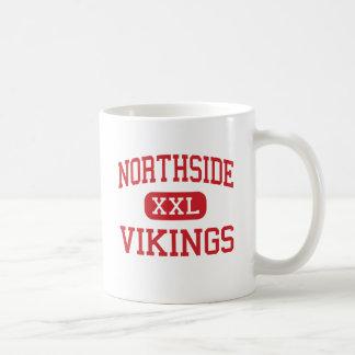 Northside - Vikingos - altos - Lafayette Luisiana Taza Básica Blanca