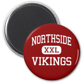Northside - Vikings - High - Lafayette Louisiana 2 Inch Round Magnet