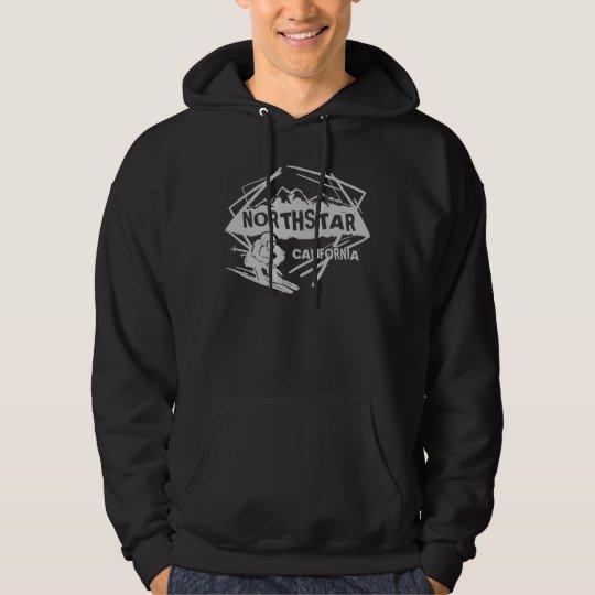 Northstar California gray theme guys skier hoodie