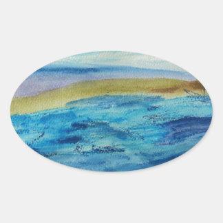 Northumberland Coast Oval Sticker
