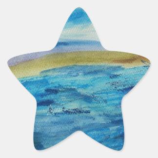 Northumberland Coast Star Sticker