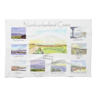 Northumberland Coast Tea Towel