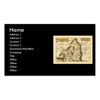 Northumberland County Map, England Business Card