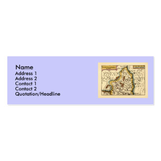 Northumberland County Map, England Double-Sided Mini Business Cards (Pack Of 20)