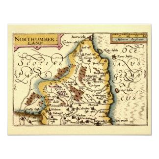Northumberland County Map, England Custom Invites