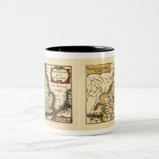 Northumberland County Map, England Two-Tone Coffee Mug