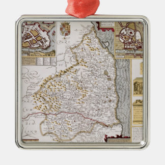 Northumberland, engraved by Jodocus Hondius Metal Ornament