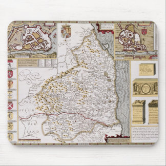 Northumberland, engraved by Jodocus Hondius Mouse Pad