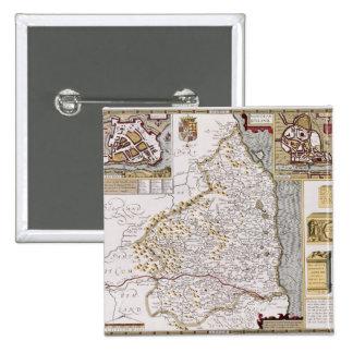 Northumberland, engraved by Jodocus Hondius Pinback Button