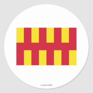 Northumberland Flag Classic Round Sticker
