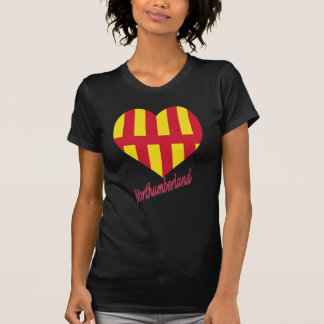 Northumberland Flag Heart with Name T-Shirt