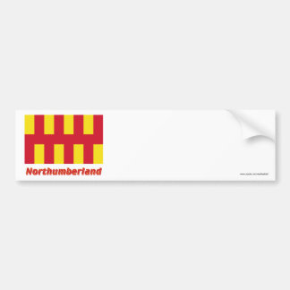 Northumberland Flag with Name Bumper Sticker