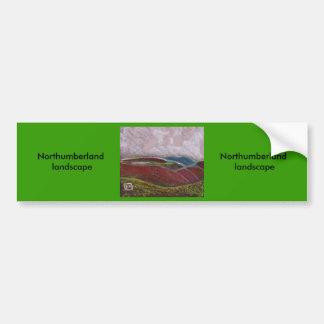 Northumberland landscape bumper sticker