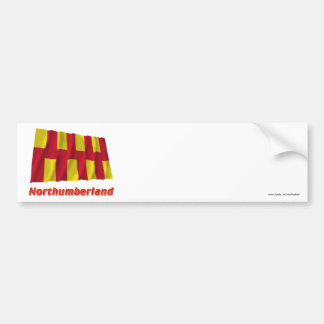 Northumberland Waving Flag with Name Bumper Sticker