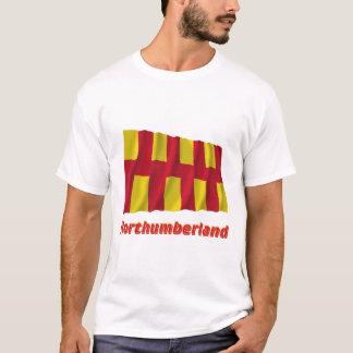 Northumberland Waving Flag with Name T-Shirt