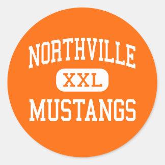 Northville - Mustangs - High - Northville Michigan Classic Round Sticker